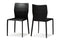Asper Black Leather Dining Chair (Set of 2)