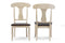 Napoleon Chic Country Cottage Antique Oak Wood Dining Chair (Set of 2)