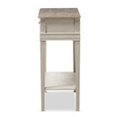 Arte White Wash Console Table
