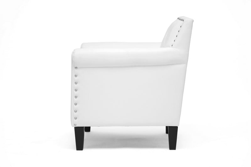 Thalassa White Modern Arm Chair