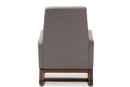 Yashiya Mid-century Retro Modern Grey   Rocking Chair and Ottoman Set