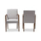 Andrea Greyish Armchair (Set of 2)