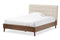 Alinia Light Beige Queen Size Platform Bed