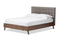 Alinia Grey Queen Size Platform Bed