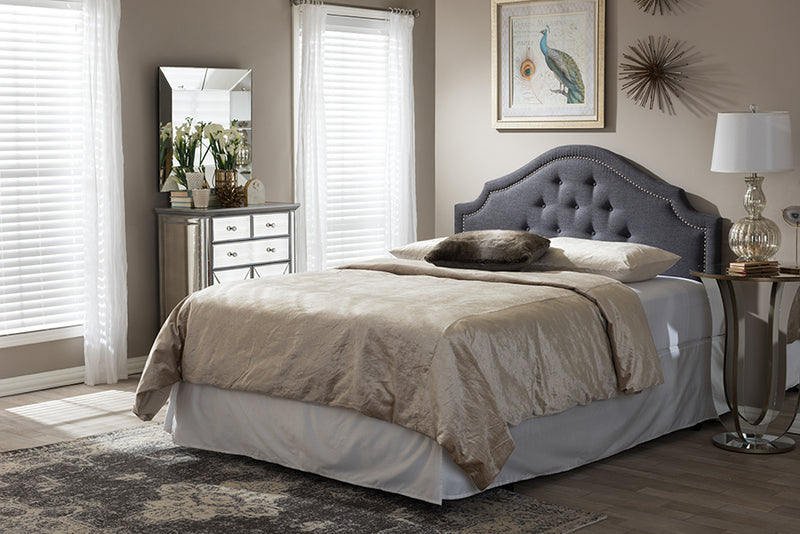 Cora   Dark Grey   King Size Headboard