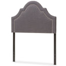 Rita   Dark Grey   Twin Size Headboard