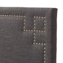Geneva   Dark Grey   Queen Size Headboard