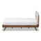 Penelope Light Beige King Size Platform Bed