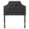 Mars   Dark Grey Fabric Twin Size Headboard