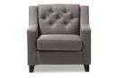 Arcadia Grey Tufted Chair