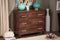 Maison   Oak Brown Finish Wood 3-Drawer Storage Chest