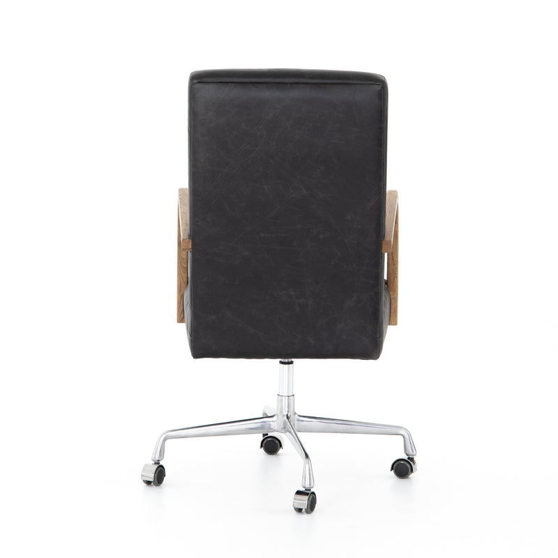 Bryson Channeled Desk Chair-Smoke