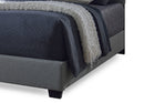 Romeo Contemporary Grey Button-Tufted Upholstered King Size Bed