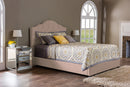 Juliet Contemporary Light Brown Tufted   Queen Size Bed