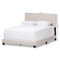 Hampton   Light Beige   Queen Size Bed