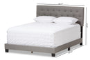Cassandra   Light Grey   Queen Size Bed