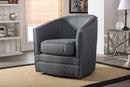 Porter   Classic Retro Grey   Swivel Tub Chair