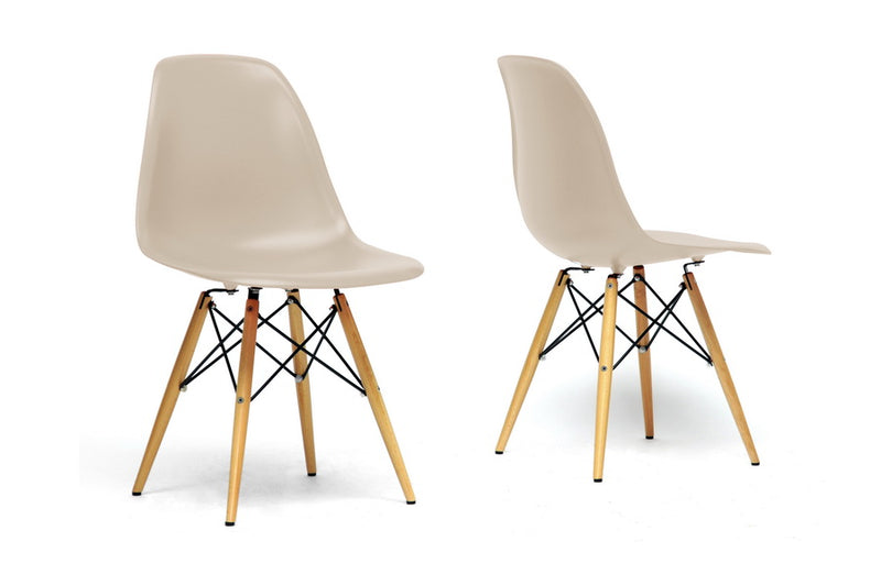 Azzo Beige Chair (Set of 2)