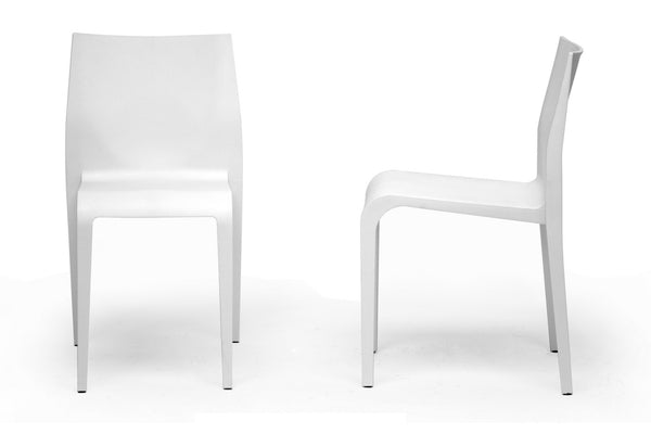 Blanche White Modern Dining Chair (Set of 2)