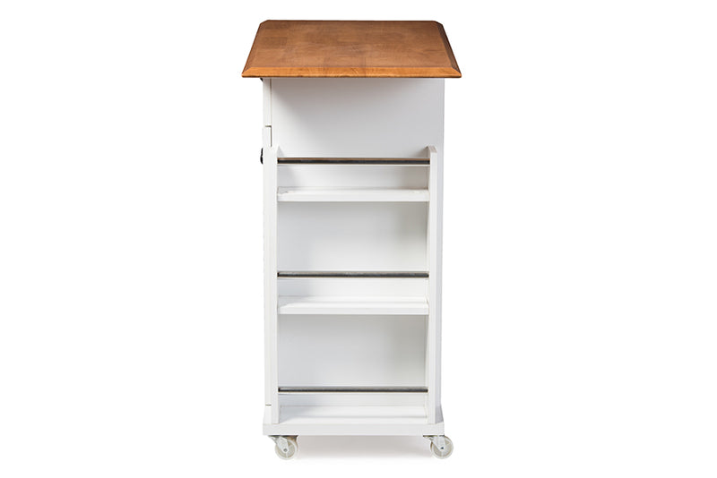 Balmore White Kitchen Cart