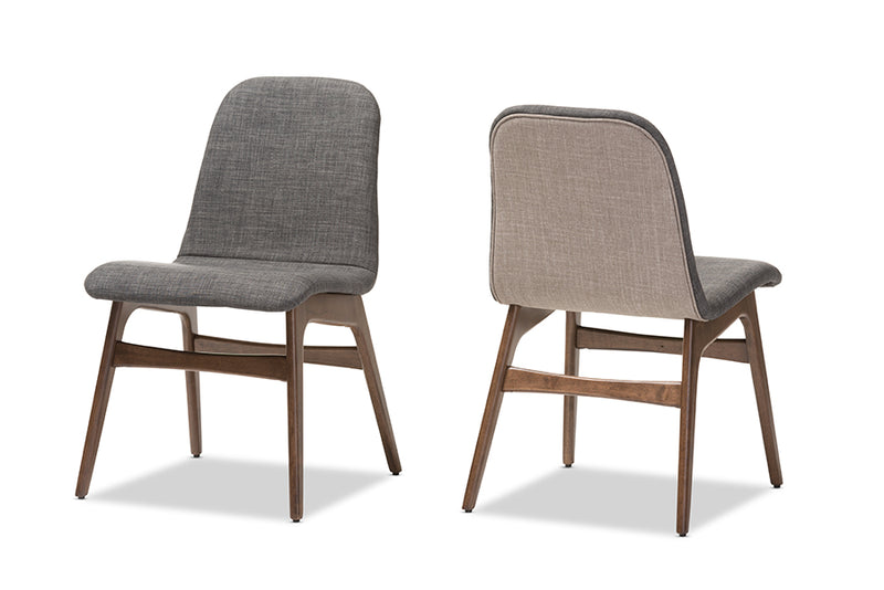 Embrace Scandinavian Style Dark Grey Dining Chair (Set of 2)