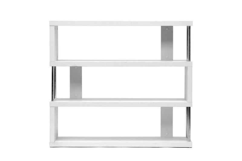 Barnes White Three-Shelf Bookcase