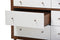 Harlow Mid-century Modern Scandinavian Style White and Walnut Wood 6-drawer Storage Dresser