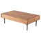 Distrikt Hard Fumed Coffee Table Black Legs