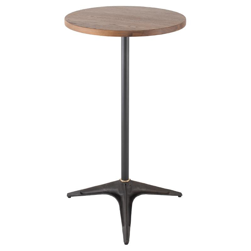 Compass Smoked Bar Table Black Legs