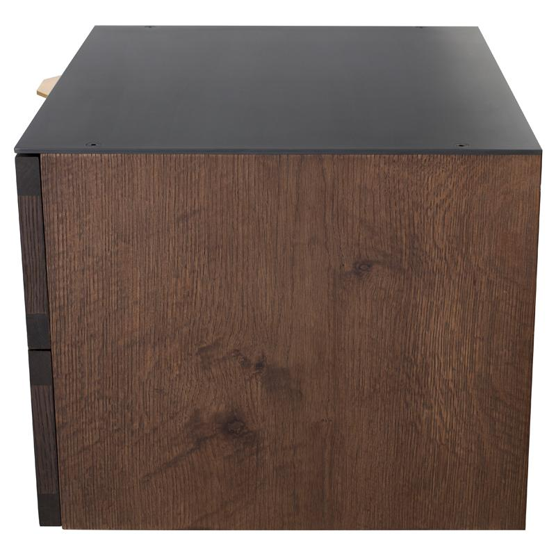 Drift Smoked Side Table Black Top
