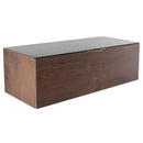 Drift Smoked Media Unit Cabinet Black Top