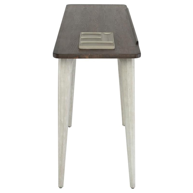 Exeter Seared Side Table Grey Base
