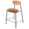 Kink Hard Fumed Counter Stool Umber Tan Seat