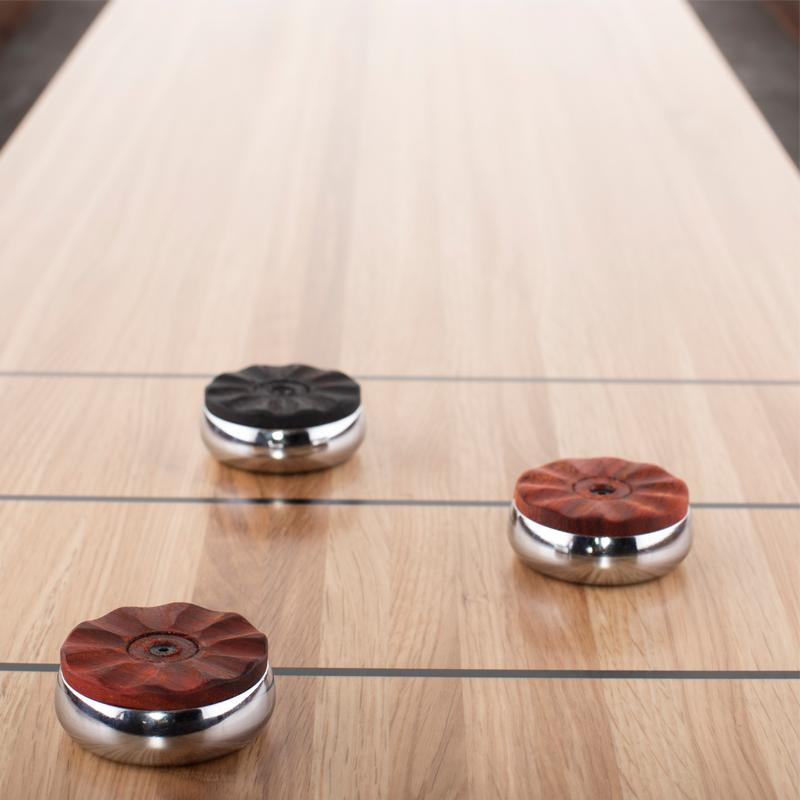 Shuffleboard Burnt Umber Gaming Table Black Base