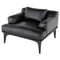 Salk Black Single Seat Sofa Black Legs