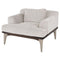 Salk Shroom Single Seat Sofa Black Legs