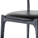 Assembly Black Dining Chair Cerused Frame
