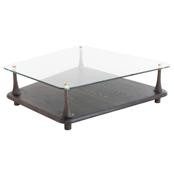 Mesa Glass Coffee Table Seared Base