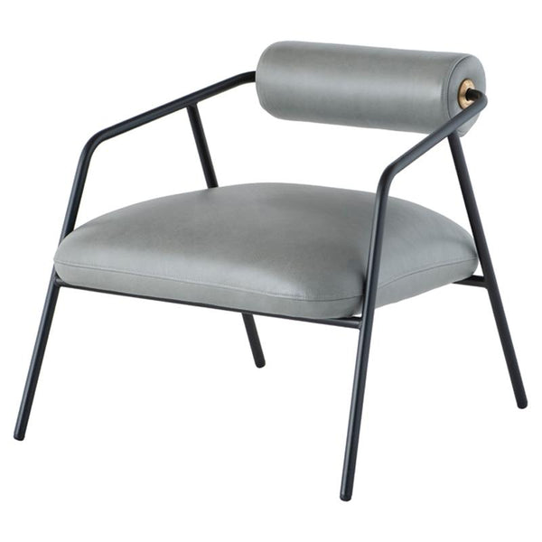 Cyrus French Blue Occasional Chair Black Frame