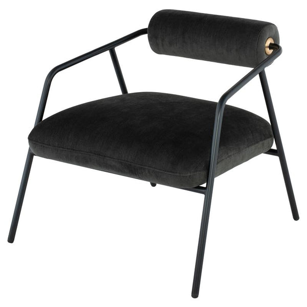 Cyrus Pewter Occasional Chair Black Frame