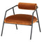 Cyrus Rust Occasional Chair Black Frame