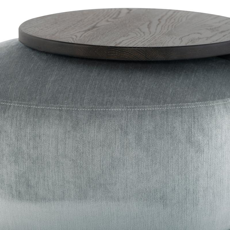 Orbit Limestone Ottoman Chair Seared Frame