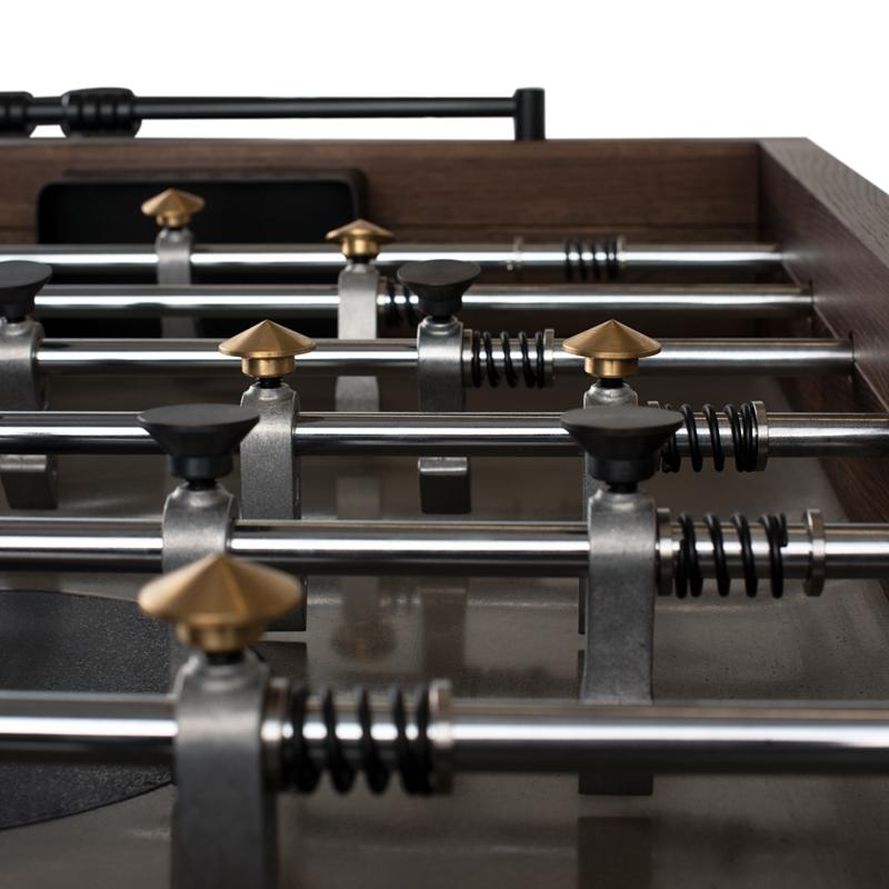 Foosball Smoked Gaming Table Black Base
