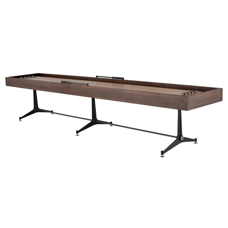 Shuffleboard Smoked Gaming Table Black Base