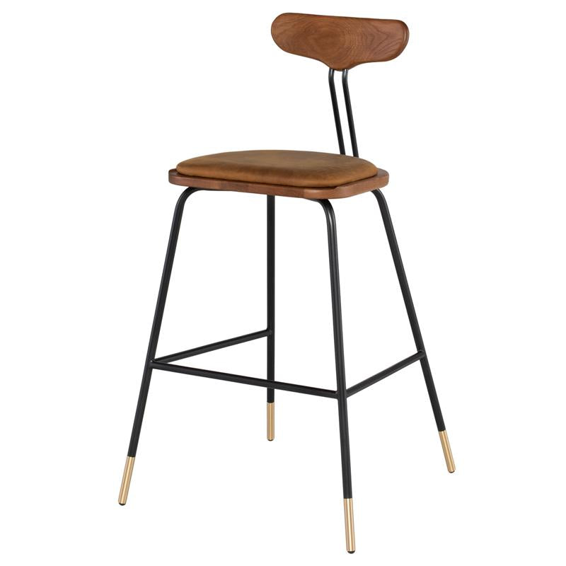 Dayton Umber Tan Bar Stool Hard Fumed Seat