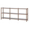 JUSTIN WHITE DISPLAY SHELVING WALNUT UPRIGHTS