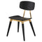 SCHOLAR ONYX DINING CHAIR GOLD ACCENT