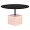 AXEL BLACK COFFEE TABLE FLAMINGO TERRAZZO BASE