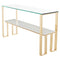 TIERRA WHITE CONSOLE TABLE GOLD BASE