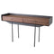 EGON WALNUT CONSOLE TABLE BRONZE BASE